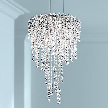 "Schonbek Chantant 14"" Wide Small Crystal Pendant Light"
