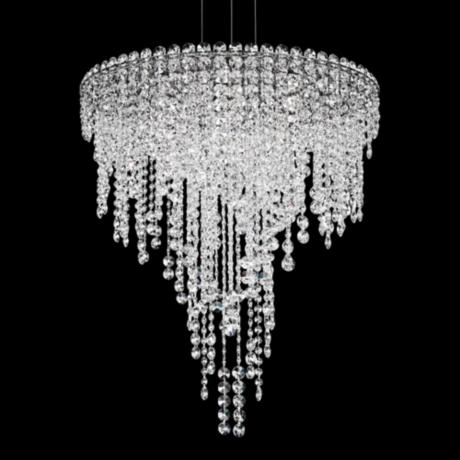 Schonbek Chantant 24 Quot Wide Small Crystal Pendant Light
