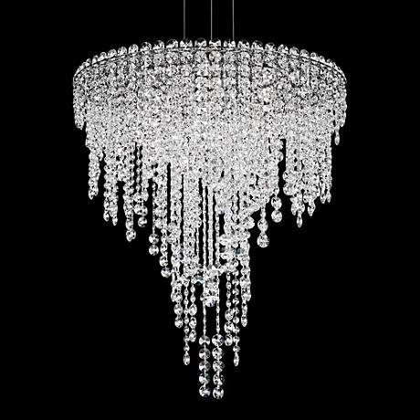 "Schonbek Chantant 24"" Wide Small Crystal Pendant Light"