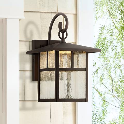 "Glenfield 12"" High Bronze LED Outdoor Wall Light"