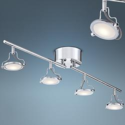 Pro Track Halo Chrome 4-Light LED Track Fixture