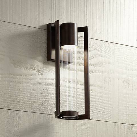 "Maxfield Bronze 15"" High LED Outdoor Wall Light"