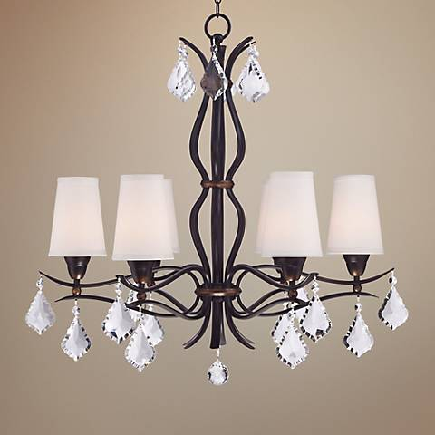 "Isadora 33"" Wide 6-Light Bronze Chandelier"