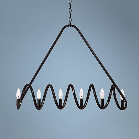 "Enders 31"" Wide Bronze Island Chandelier"