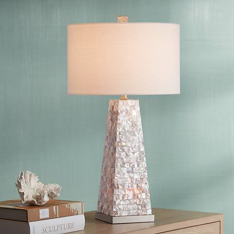 Possini Lorin Mother of Pearl Table Lamp with Night Light