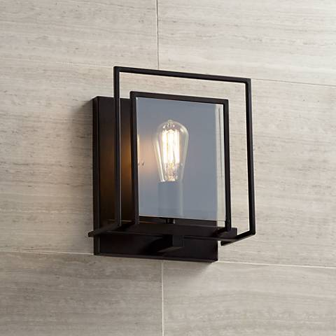 "Hazelhurst 11"" High Bronze Wall Sconce"