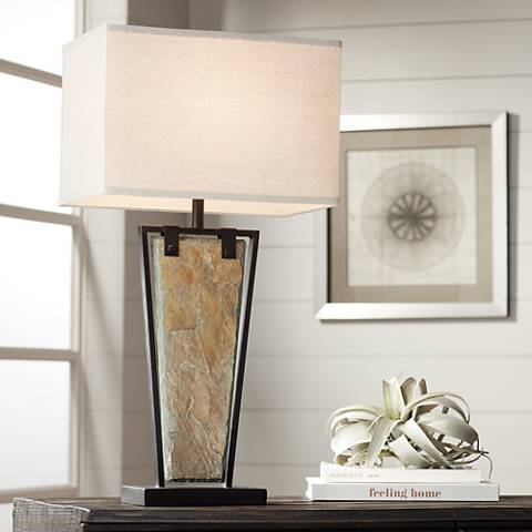 Zion Tapered Slate Table Lamp
