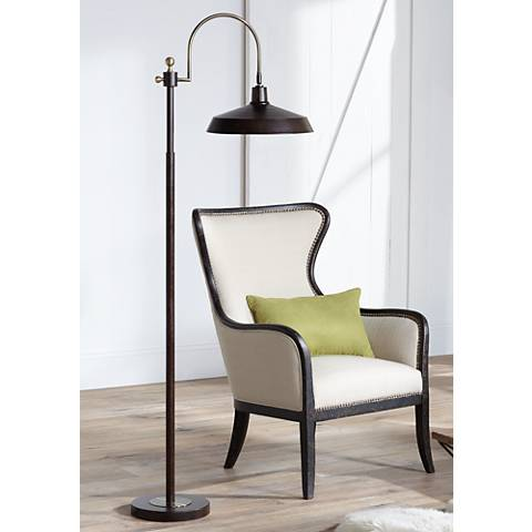 Nate Bronze Industrial Downbridge Floor Lamp