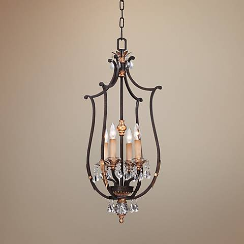 "Metropolitan Bella Cristallo 17"" Wide Bronze Pendant Light"