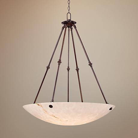 "Metropolitan Virtuoso 35"" Wide Pewter Pendant Light"