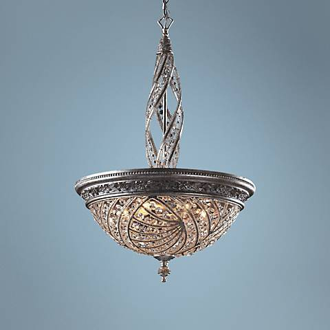 Genoese Collection Silver Finish Crystal Pendant Chandelier