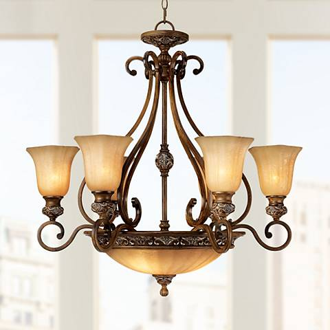 "Kathy Ireland Sterling Estate 34 1 2"" Wide Chandelier"