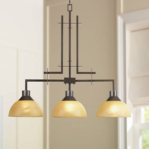"Metro Collection 33 3/4"" Wide Three Light Island Chandelier"