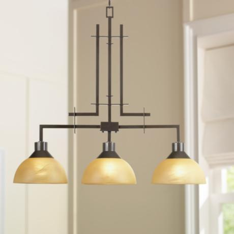 Metro Collection Three Light Island Chandelier