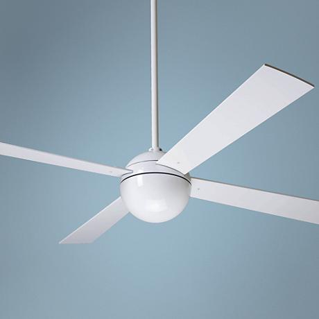 52 modern fan company gloss white ball ceiling fan Modern white ceiling fan