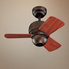 "24"" Micro Roman Bronze Finish Ceiling Fan"
