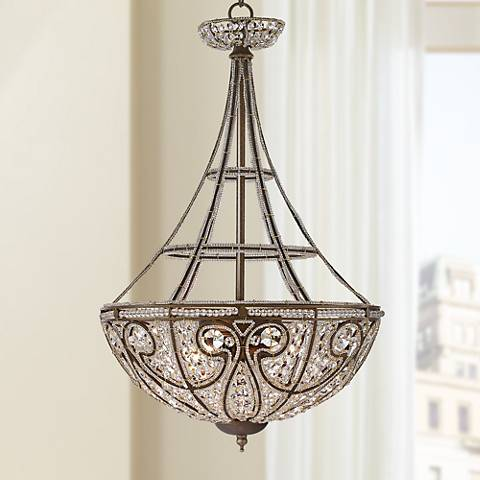 Elizabethan Collection Bronze Finish Four Light Chandelier