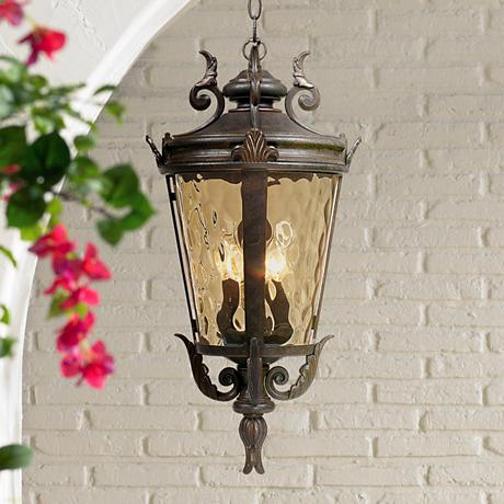 "Casa Marseille™ 23 3/4"" High Bronze Hanging Light"