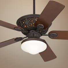 "52"" Casa Vieja Costa Del Sol Ceiling Fan with Light Kit"