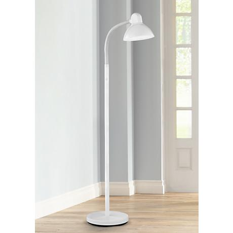 White Gooseneck Floor Lamp