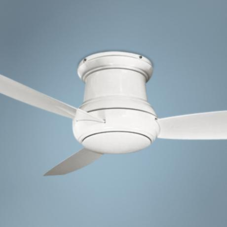 "52"" Minka Concept II Wet Location White Hugger Ceiling Fan"