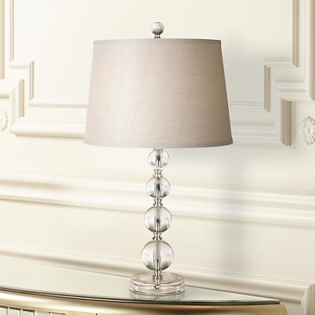 Herminie Stacked Ball Acrylic Table Lamp
