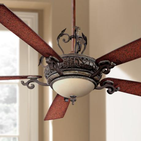 "68"" Minka Aire Napoli Walnut Finish Ceiling Fan"