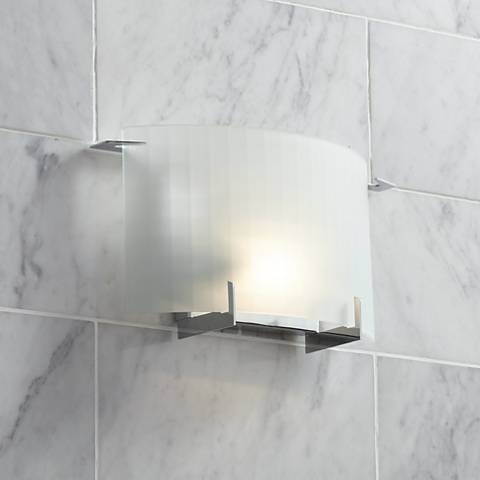 "Possini Euro Soho 12"" Wide Checkered Glass Wall Sconce"