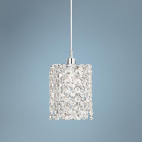 "Schonbek Geometrix Refrax 4"" Wide Crystal Mini Pendant"