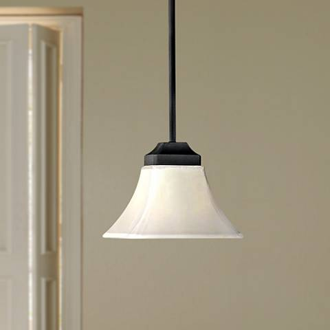 Agilis One-Light White Glass Mini Pendant