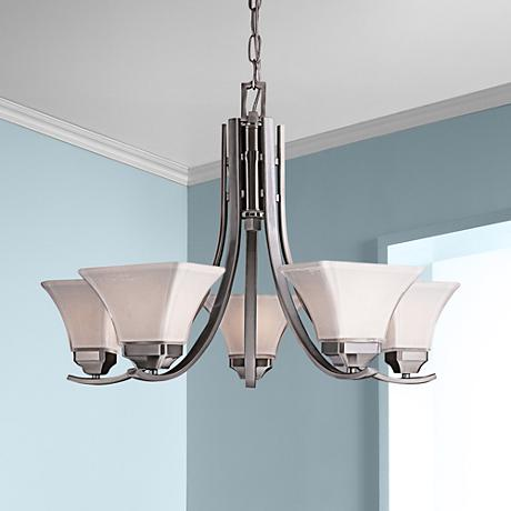 "Agilis 27"" Wide Brushed Nickel Chandelier"