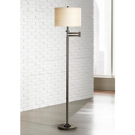 Neat Pleat Swing Arm Floor Lamp