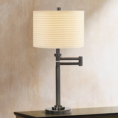 neat pleat swing arm desk lamp 67460 lamps plus. Black Bedroom Furniture Sets. Home Design Ideas
