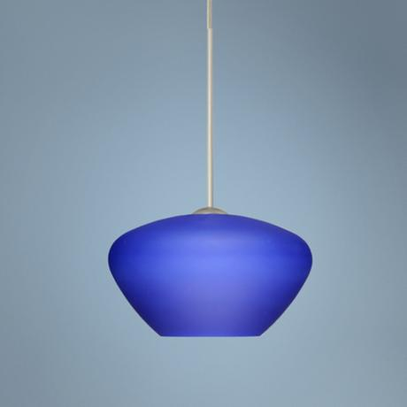 Peri Collection Blue Glass Mini Pendant Chandelier