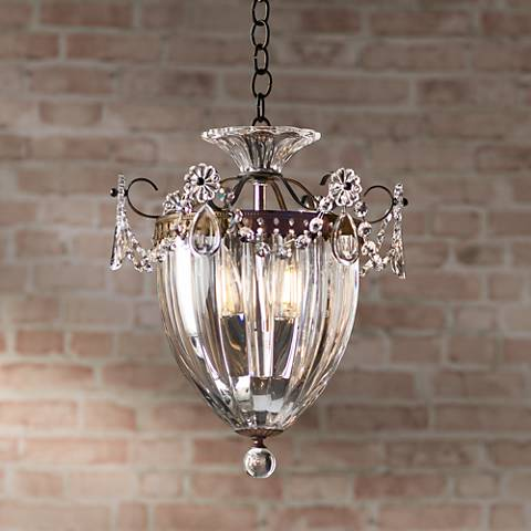 "Schonbek Bagatelle Collection 10 1/2""W Crystal Mini Pendant"