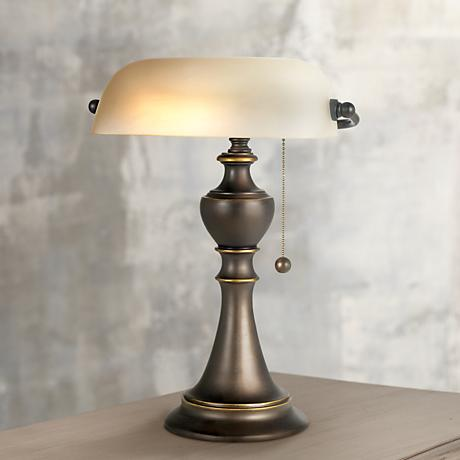 Alabaster Glass Piano Lamp