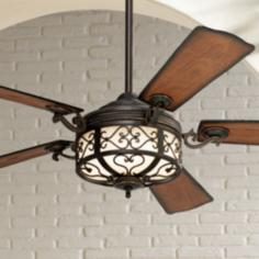 "54"" Hermitage™ Golden Forged Outdoor Ceiling Fan"