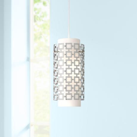 Jonathan Adler Parker Collection Nickel Pendant Light