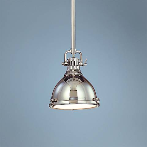 "Hudson Valley Pelham 8"" Wide Polished Nickel Mini Pendant"