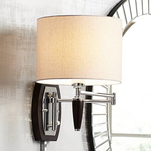 Marca Plug-In Swing Arm Wall Lamp by Possini Euro Design