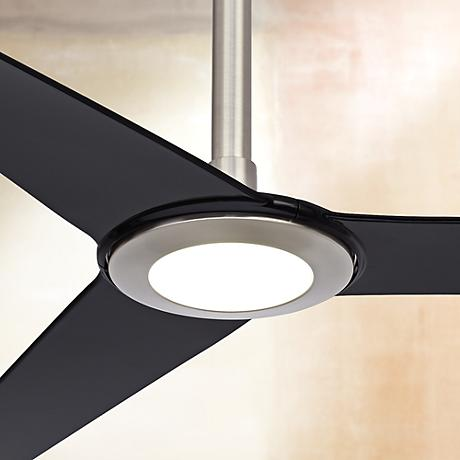 "60"" Ozone® LED Brushed Nickel Ceiling Fan - 8"" Extension"