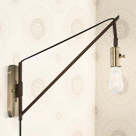 Lamps Plus Brass Wall Sconce : Hobson Bronze and Antique Brass 17