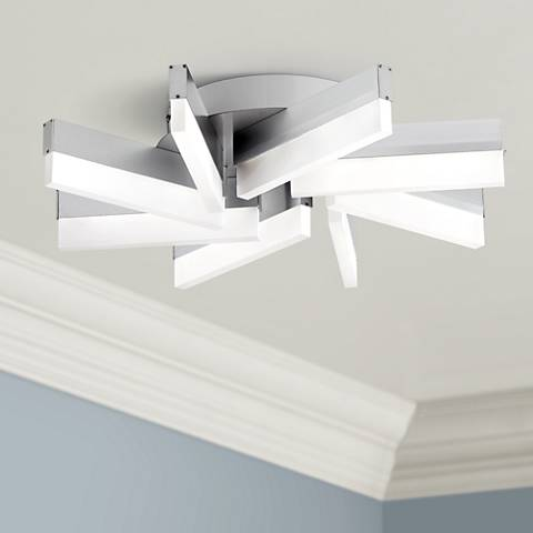 "Spirelli 19"" Wide Aluminum LED Ceiling Light"