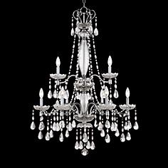"Lenora 43"" High Traditional Large Crystal Chandelier"