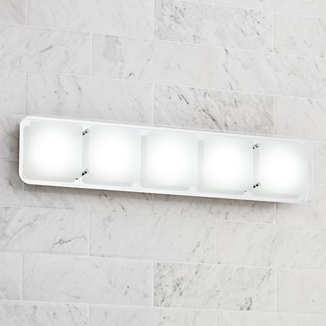 Elin 25 Wide Led Bath Light By Possini Euro Design 6d329 Lamps Plus