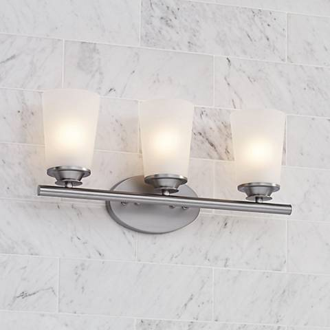 "Masterton 3-Light 19 1/4"" Wide Satin Nickel Bath Light"