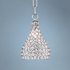 "Possini Euro Geneva 6 1/4"" Wide Crystal Mini Pendant Light"