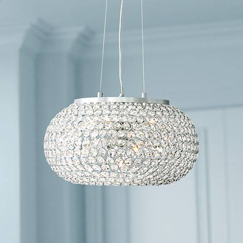 "Possini Euro Marion 18 1/4"" Wide Crystal Bead Pendant Light"