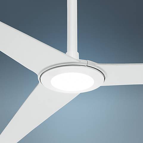 "60"" Ozone® LED White Ceiling Fan - 12"" Extension"