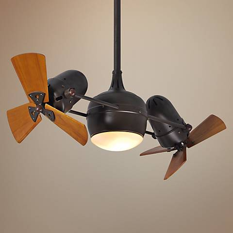 "41"" Matthews Dagny Mahogany Lighted Dual Ceiling Fan"